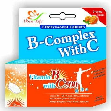 優質生活 維他命B+C 發泡錠 10錠/瓶