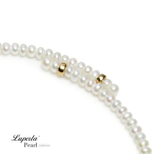 大東山珠寶 浪漫貴族 頸圈項鍊 歐美古典編織珠寶 14K天然珍珠項鍊 5