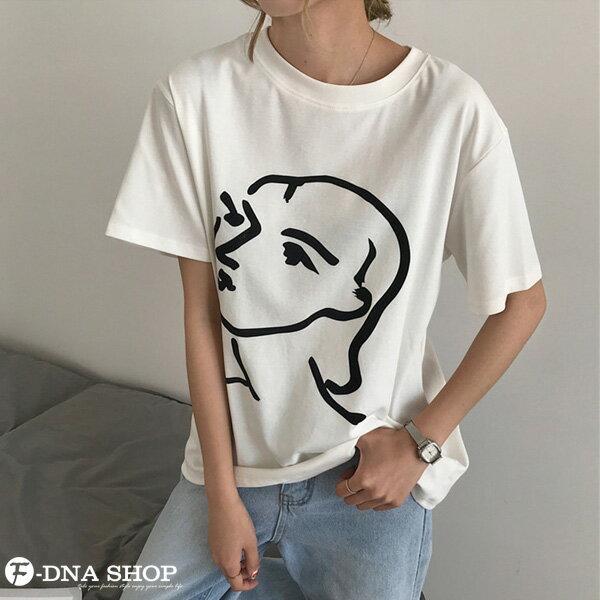 F-DNA★極簡印象派女王圓領短袖上衣T恤(2色-均碼)【ET12701】 5