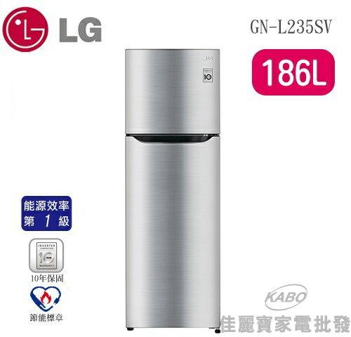 <br/><br/>  【佳麗寶】-LG SMART 變頻上下門冰箱【 GN-L235SV】<br/><br/>