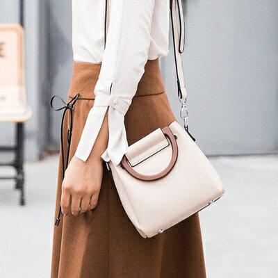 手提包純色肩背包-時尚簡約優雅子母包女包包4色73sb22【獨家進口】【米蘭精品】