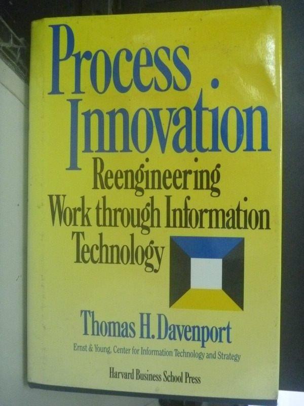【書寶二手書T6/大學商學_ZCO】Process Innovation: Reengineering