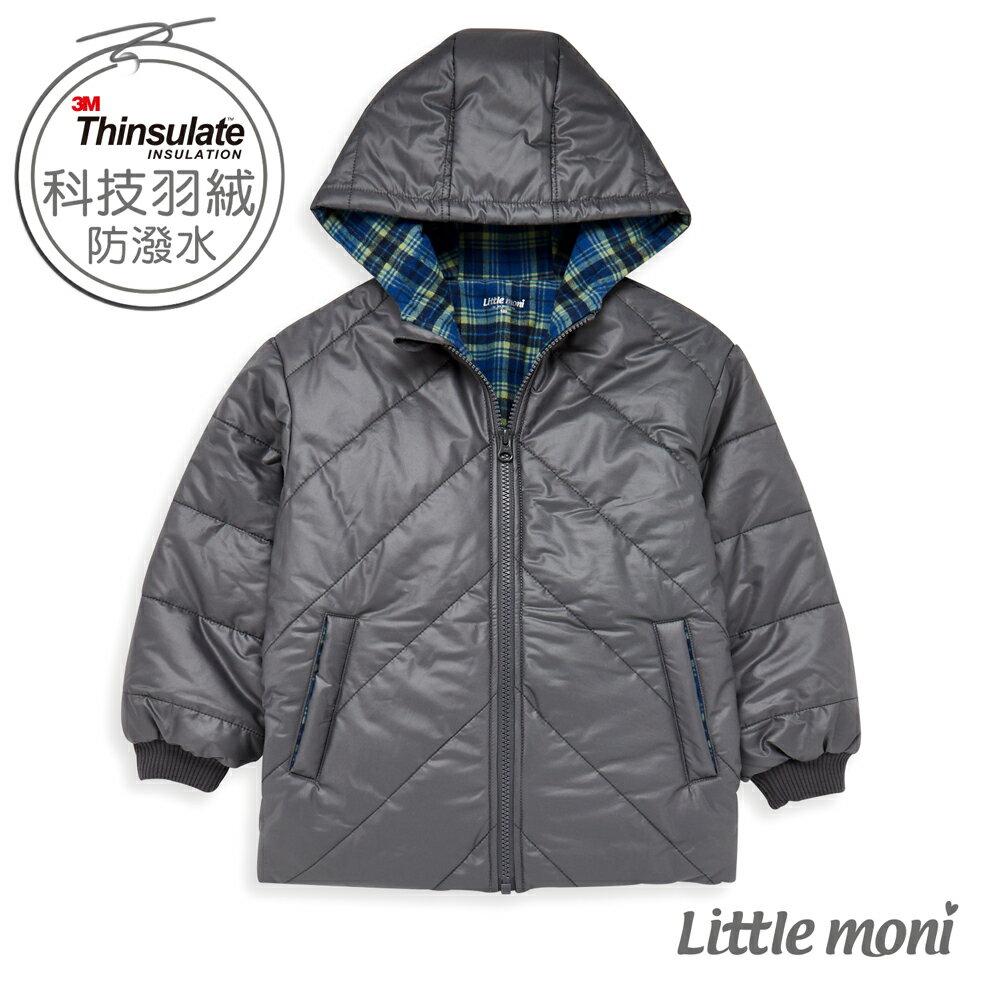 Little moni 3M科技羽絨保暖外套-灰色(好窩生活節) 0