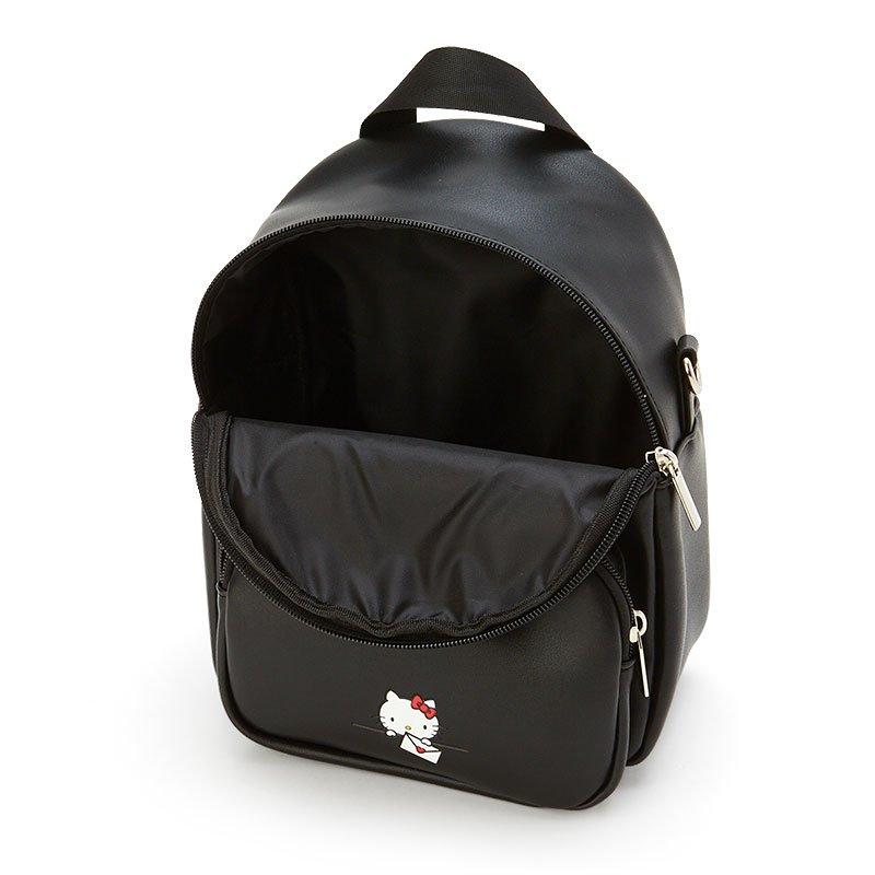 迷你皮質後背包 Sanrio 凱蒂貓 包包 日本進口正版授權