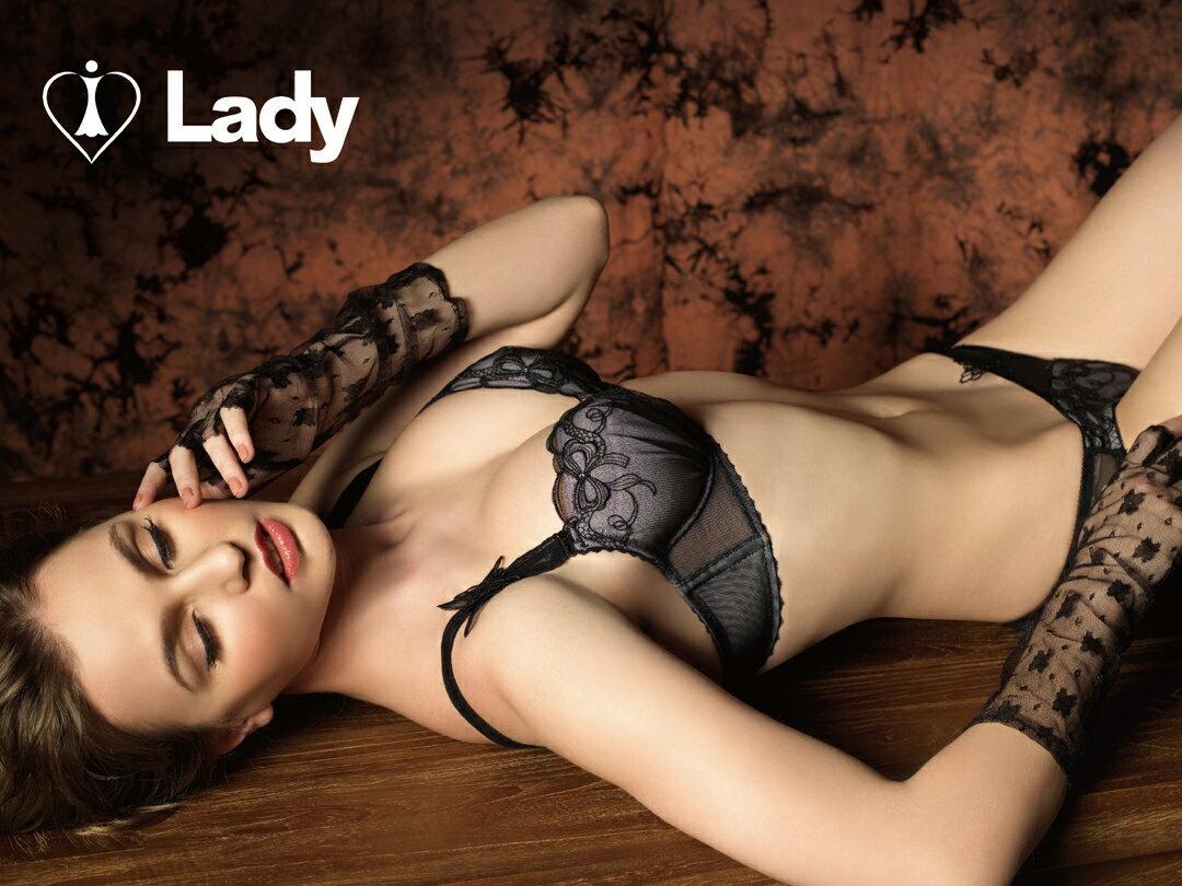 LADY 安娜貝兒系列 B-E罩內衣(透色黑)