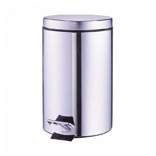 618購物節不鏽鋼腳踏式圓形垃圾桶 12L 銀色 / 個 PT-25