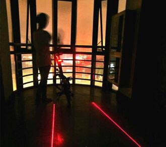 《意生》夜騎必備平行線激光車尾燈 自行車雙平行線後燈單車警示燈雷射尾燈雷射激光安全尾燈激光安全尾燈