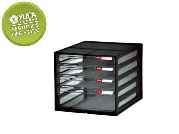 【YUDA】樹德 桌上型樹德櫃 DD-113(4抽) 資料櫃  效率櫃  收納櫃(二色 配送)