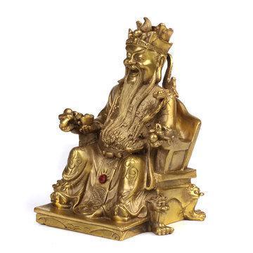 吉善緣 純銅財神爺佛像擺件吉祥招財旺財家居裝飾風水擺設0272