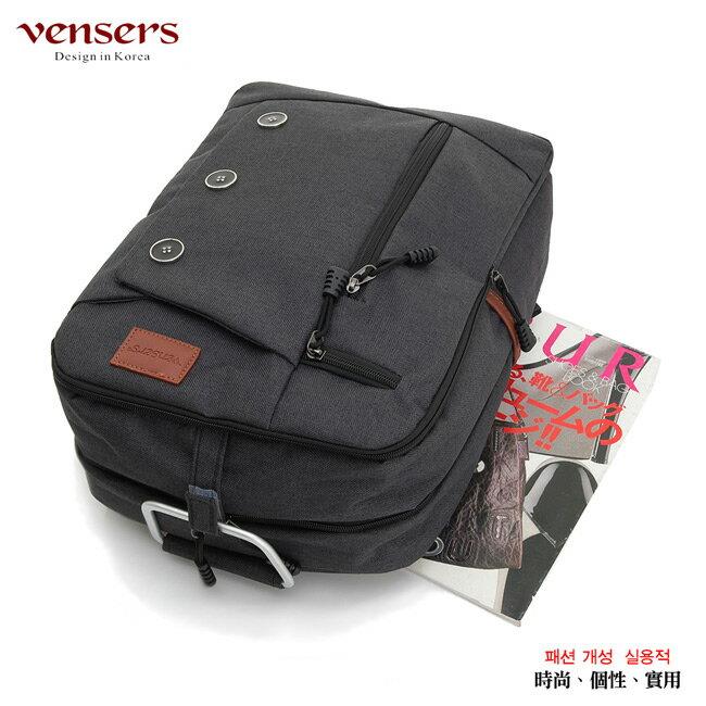 【vensers】簡約丹寧牛仔後背包(R00061602黑色) 2