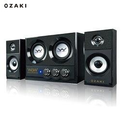 【滿千折100+最高回饋23%】OZAKI 阪京 WR325 2.2聲道電腦喇叭 (總功率20瓦/雙重低音)