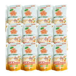 *babygo*康貝 Combi 新酵素奶瓶蔬果洗潔液補充包特惠組800mlx12【箱購最優惠】