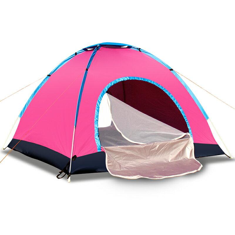 戶外帳篷 全自動家用單人野營裝備加厚野外露營家用防雨野餐超輕便T