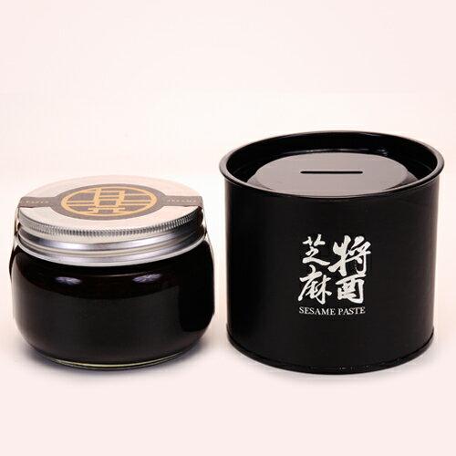 【九品元】特選黑芝麻醬 (300g/罐) x 2罐-特選SSS頂級芝麻,古法研磨製成 0