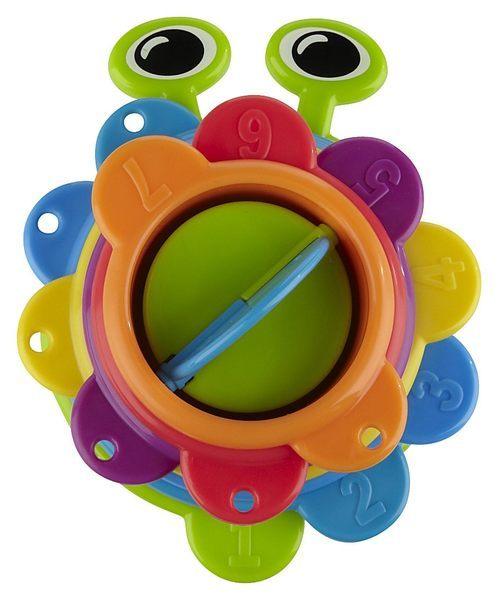 【淘氣寶寶】美國-Munchkin毛毛蟲洗澡杯/洗澡數字顏色玩具/洗澡水杯