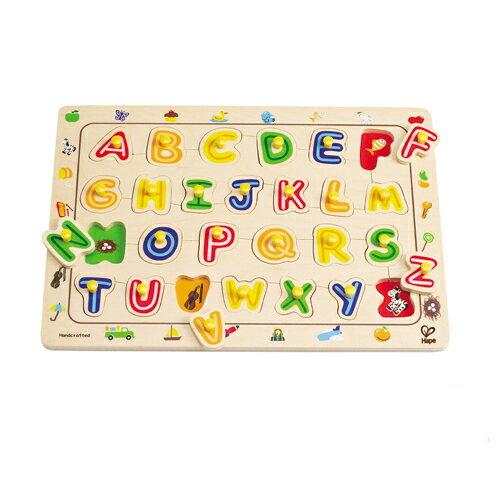 【淘氣寶寶】德國 Hape 愛傑卡 ABC配對木拼圖