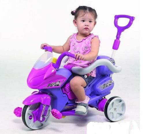 【淘氣寶寶】【CHING-CHING親親】重型機車全有三輪車(紫色)(TR-09A P46)