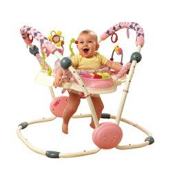 【淘氣寶寶】美國Kids ⅡBright Starts 粉紅陽光彈跳飛碟KI06842 122x102x132.1cm.【全新品】