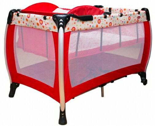 【淘氣寶寶】 欣康遊戲床/睡床 【紅圓點】