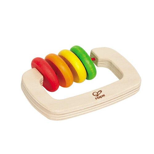 【淘氣寶寶】【德國Hape愛傑卡】木製嬰兒手搖鈴-長【1入】