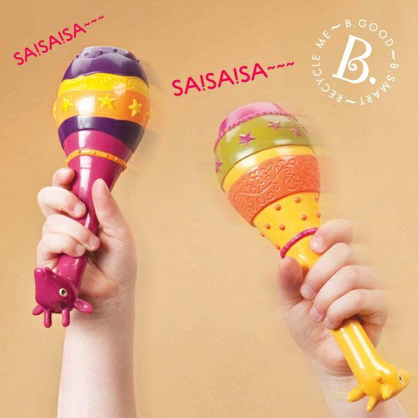 【淘氣寶寶】【美國B.Toys感統玩具】非洲童樂團-長頸鹿沙球 1