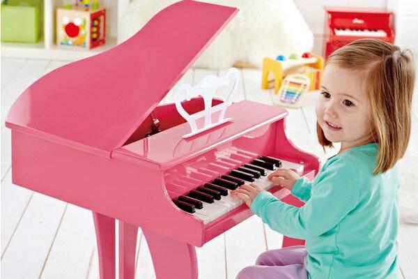 【淘氣寶寶】德國Hape愛傑卡 音樂系列-音樂大鋼琴-粉紅.兒童樂器 2