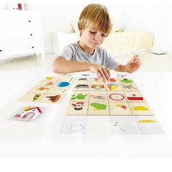 【淘氣寶寶】德國Hape愛傑卡-親子教育系列-語言表達遊戲-少了什麼【天然實木、植物性水染漆、德國環保玩具】