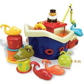 【淘氣寶寶】【美國B.Toys感統玩具】 小船長釣魚組