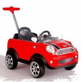 Mini Coopers 握把式助步車 四輪後控助步車(紅) 超有趣的腳行車【紫貝殼】