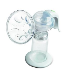 【淘氣寶寶】貝瑞克手動吸乳器【保固半年】【盒內特別加贈奶水儲存瓶3隻(單隻容量150ML) 】