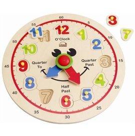 【淘氣寶寶】德國 Hape 愛傑卡 木製 快樂時鐘