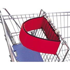 【淘氣寶寶】Leachco 外出購物推車攜帶型固定帶(紅)【安全帶可以適用許多的購物車上 】