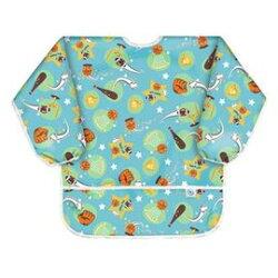 【淘氣寶寶】最新 美國Bumkins防水兒童3-5歲 圍兜(長袖)-流星 BKAS-206【保證公司貨】