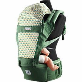 【淘氣寶寶】韓國 Pognae ORGA 有機棉座墊式揹巾-清新馬卡龍綠【贈:天然草本抗菌洗手乳250ml/原價399元】