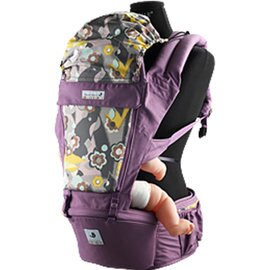 【淘氣寶寶】韓國 Pognae ORGA 有機棉座墊式揹巾-高雅紫羅蘭【贈:天然草本抗菌洗手乳250ml/原價399元】