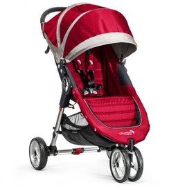 【淘氣寶寶】 Baby Jogger City Mini 3輪手推車/慢跑推車(紅)【可單手秒收車.公司貨】
