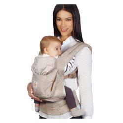 【淘氣寶寶】 美國正品Ergo Baby  Carrier 爾哥寶寶 有機 嬰兒背帶 - 蒲公英 【贈美國製醫療級香草(紫色)奶嘴*3顆】