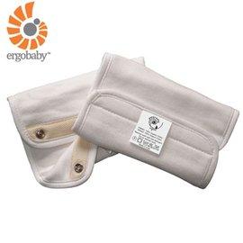 【淘氣寶寶】【總代理公司貨】美國 Ergo Baby ergobaby Teething Pad 爾哥寶寶背巾用 嬰幼兒 吸吮墊 / 口水巾(100%純棉棉材質)有機款 米白