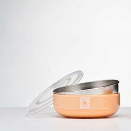 Kangovou 小袋鼠不鏽鋼安全小粥碗-奶油橘【紫貝殼】