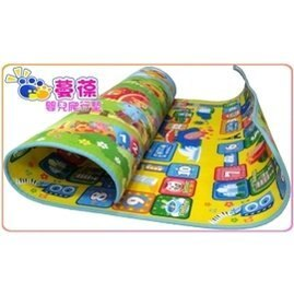 【淘氣寶寶】《蔓葆嬰兒爬行墊 》環遊世界+動物樂園雙面厚款 200x180x1.0cm 遊戲墊/地墊/保潔墊