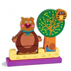 【淘氣寶寶】』瑞士【Oops】歐歐皮 烏噗司-益智磁鐵積木組(森林樂園)【高品質無毒油墨積木】