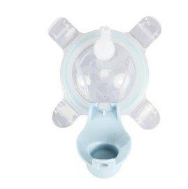 【淘氣寶寶】美國 Kangovou 小袋鼠兩用杯替換上蓋+吸管 野莓藍