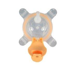 【淘氣寶寶】美國 Kangovou小袋鼠兩用杯替換上蓋+吸管 奶油橘