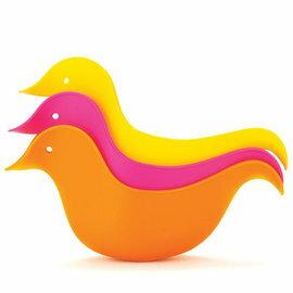 【淘氣寶寶】Skip Hop 洗澡小鴨子-橘/粉/黃(3入/組) 洗澡玩具 沐浴配件