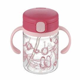 【淘氣寶寶】日本《Richell-利其爾》(新)LC兒童戶外吸管水杯-第二代喝水杯吸管學習杯200ml桃紅