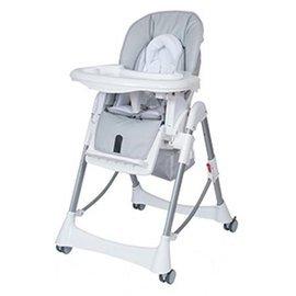 【淘氣??】台灣製 Britax - Steelcraft Messina DLX 高低可調多功能餐椅(灰白色)