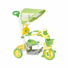 【淘氣寶寶】【CHING-CHING親親】快樂蛙三輪車-綠 XG3105GP-018