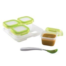 【淘氣寶寶】美國OXO副食品盒/分裝盒/食物儲存盒/分裝器 (120 ml )(4個分裝盒)