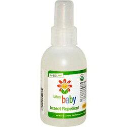 【淘氣寶寶】 美國原裝進口 Lafes Organic有機嬰兒防蚊液/118ml單入《美國USDA有機認證》防小黑蚊超強效3倍防蚊液