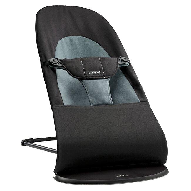 【淘氣寶寶】瑞典 BabyBjorn Bouncer Balance Soft 柔軟彈彈椅-黑灰【彈椅自然擺動不需使用電池/符合人體工學】【正品】